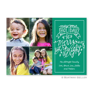 Merry & Bright Emerald Flat Holiday Photocard