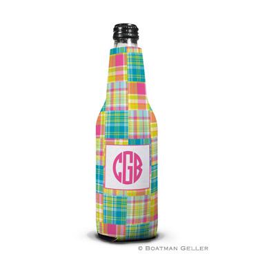 Madras Patch Bright Bottle Koozie