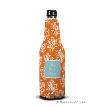 Coral Repeat Bottle Koozie