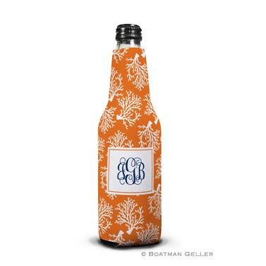 Coral Repeat Bottle Koozie