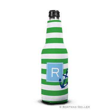 Stripe Anchor Bottle Koozie