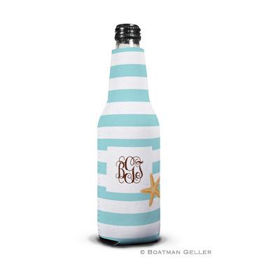 Stripe Starfish Bottle Koozie