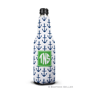 Anchors Navy Bottle Koozie