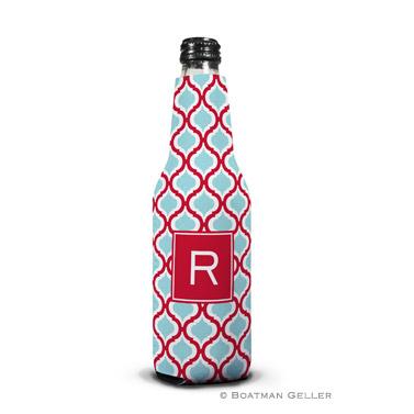 Kate Red & Teal Bottle Koozie