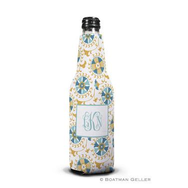 Suzani Gold Bottle Koozie