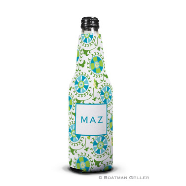 Suzani Teal Bottle Koozie