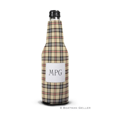 Town Plaid Bottle Koozie