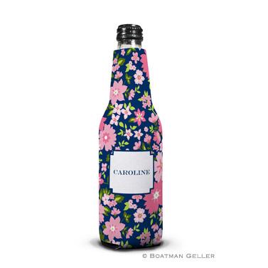 Caroline Floral Pink Bottle Koozie