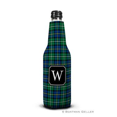Black Watch Plaid Koozie Bottle