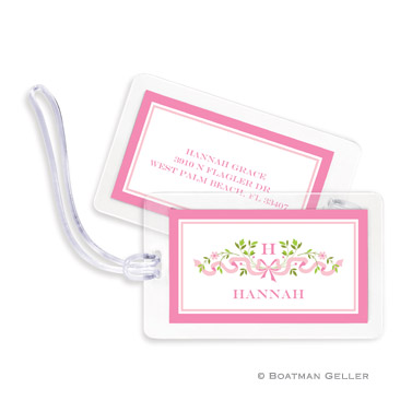 Ribbon Pink Bag Tag