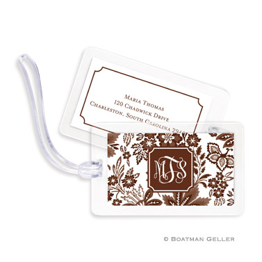 Classic Floral Brown Bag Tag