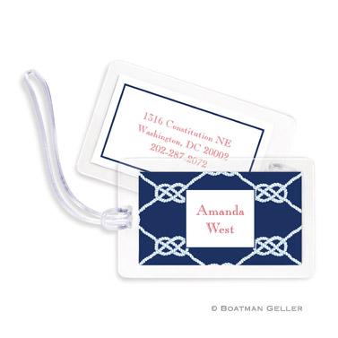 Nautical Knot Navy Bag Tag