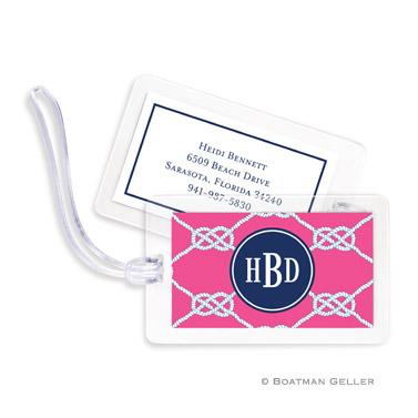 Nautical Knot Raspberry Bag Tag