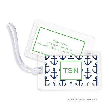 Anchors Navy Bag Tag