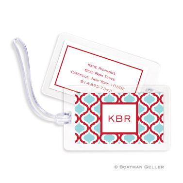 Kate Red & Teal Bag Tag