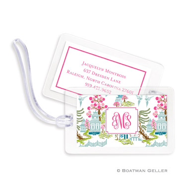 Chinoiserie Spring Bag Tag