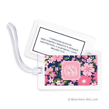 Caroline Floral Pink Bag Tag