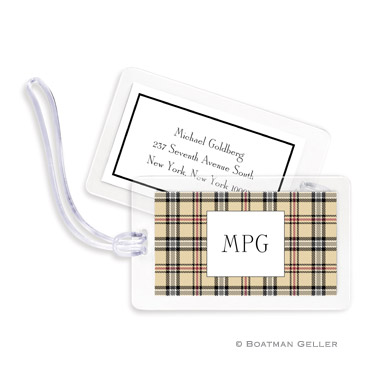 Town Plaid Bag Tag
