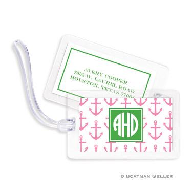 Anchors Pink Bag Tag