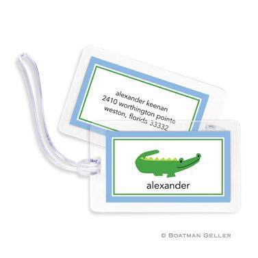 Alligator Blue Bag Tag