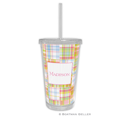 Madras Patch Pink Tumbler