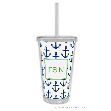 Anchors Navy Tumbler