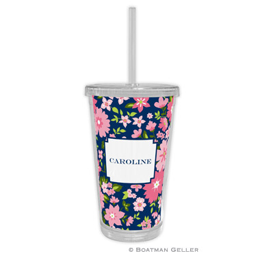 Caroline Floral Pink Tumbler
