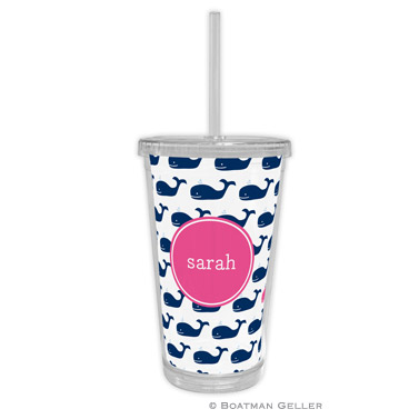 Whale Repeat Navy Tumbler