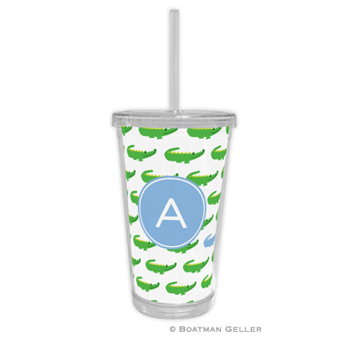 Alligator Repeat Blue Tumbler