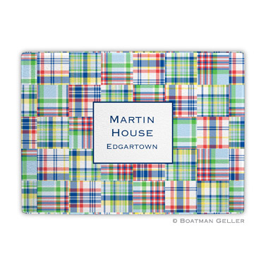 Madras Patch Blue Cutting Board