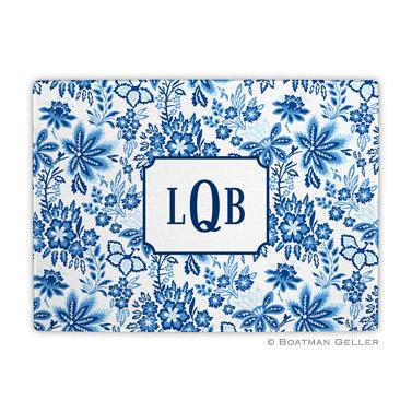 Classic Floral Blue Cutting Board