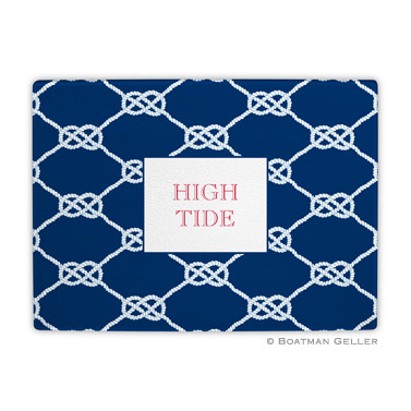 Nautical Knot Navy Cutting Board