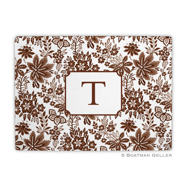 Classic Floral Brown Cutting Board