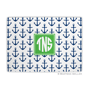 Anchors Navy Cutting Board