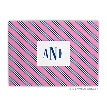 Repp Tie Pink & Navy Cutting Board