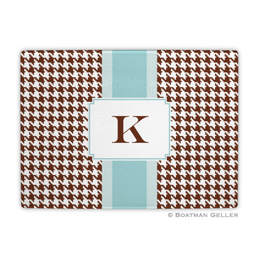 Alex Houndstooth Chocolate Cutting Board