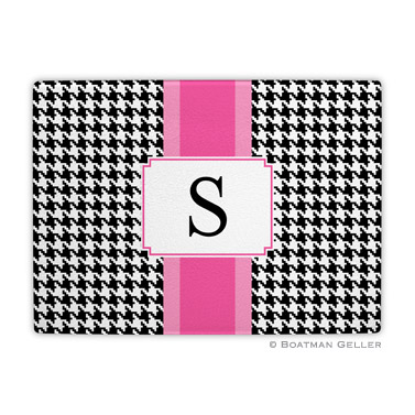 Alex Houndstooth Black Cutting Board
