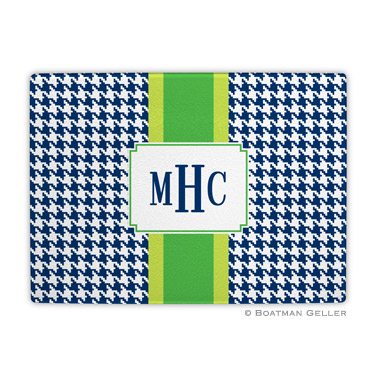 Alex Houndstooth Navy Cutting Board