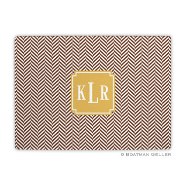 Herringbone Chocolate Cutting Board