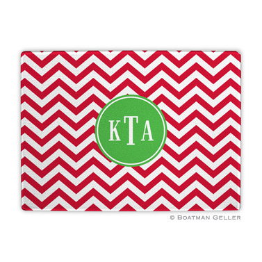 Chevron Red Holiday Cutting Board