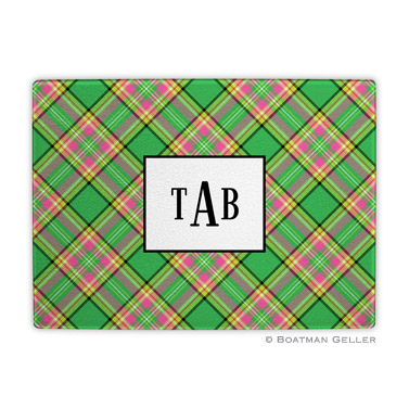 Preppy Plaid Holiday Cutting Board