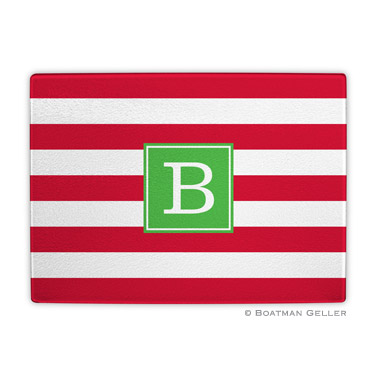 Awning Stripe Red Holiday Cutting Board