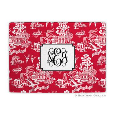 Chinoiserie Red Holiday Cutting Board