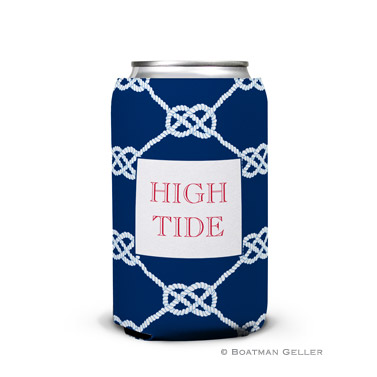 Nautical Knot Navy Can Koozie