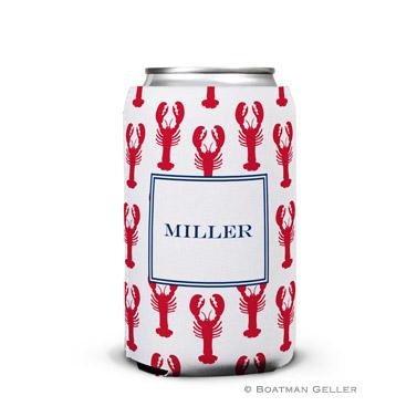 Lobsters Red Can Koozie by Boatman Geller