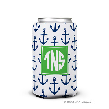 Anchors Navy Can Koozie