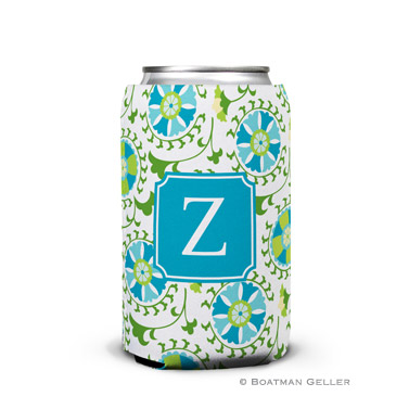 Suzani Teal Can Koozie