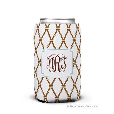Bamboo Brown & Slate Can Koozie
