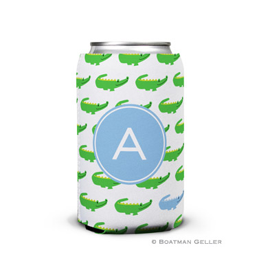 Alligator Repeat Blue Can Koozie