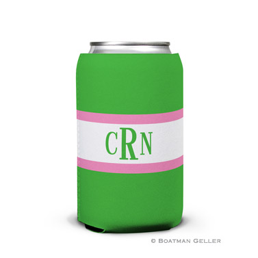 Stripe Kelly & Bubblegum Can Koozie